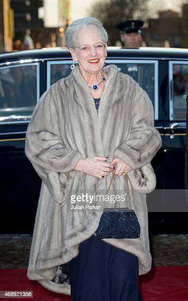 Queen Margarethe II of Denmark attends a Gala Night to mark her forthcoming 75th Birthday at Aarhus Concert Hall on April 8 2015 in Aarhus Denmark