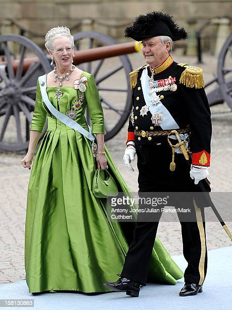 Queen Margerethe And Prince Henrik Of Denmark At The Wedding Of Crown Princess Victoria Of Sweden And Daniel Westling At Stockholm Cathedral