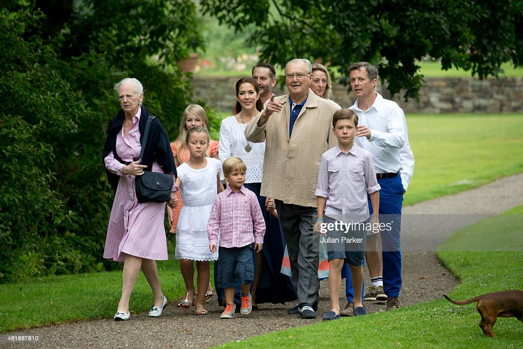 Annual Summer Photocall For The Danish Royal Family At Grasten Castle : News Photo