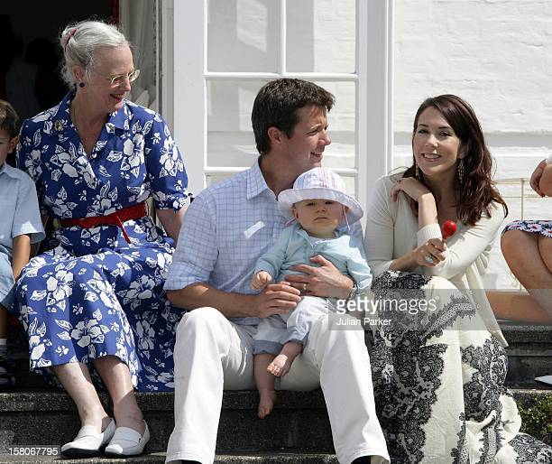 Queen Margrethe Crown Prince Frederik Crown Princess Mary Prince Christian Attend A Photocall At Grasten Palace Denmark