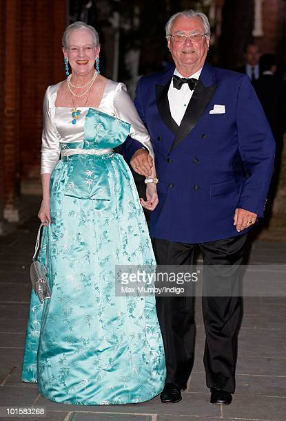 Queen Margrethe II and Prince Henrik of Denmark attend King Constantine of Greece's 70th birthday party at Crown Prince Pavlos of Greece's residence...
