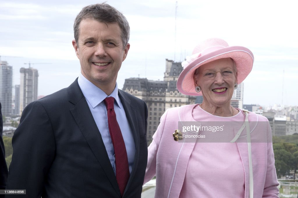 ARG: Queen Margrethe Of Denmark And Crown Prince Frederik Visit Argentina - Day 2