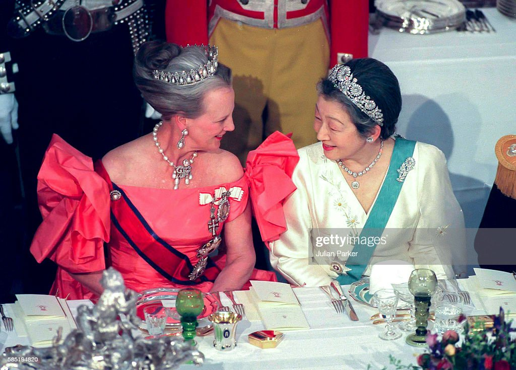 State Visit of The Emperor, and Empress of Japan to Denmark 1998 : News Photo