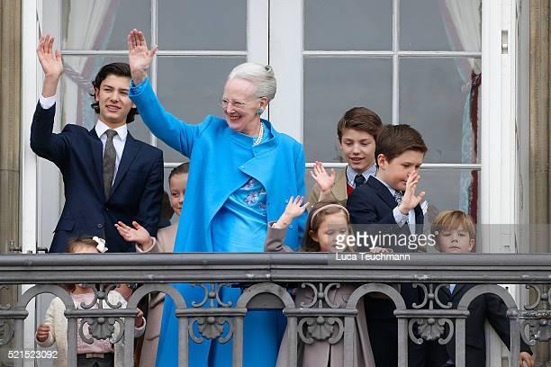 Queen Margrethe II of Denmark and her grandchildren Princess Josephine of Denmark Princess Isabella of Denmark Prince Vincent of Denmark Prince...
