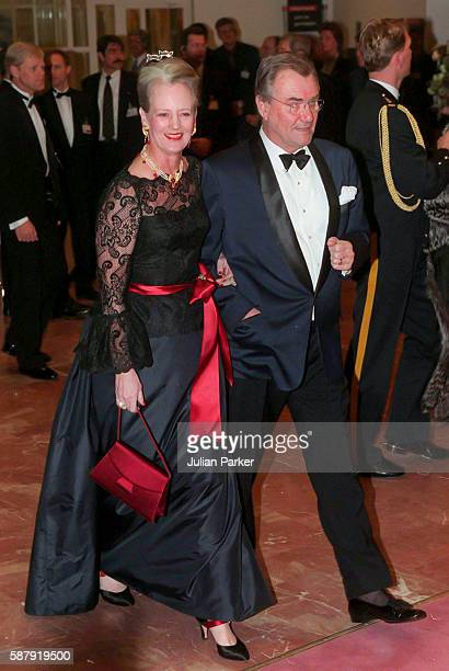 Queen Margrethe II of Denmark and Prince Henrik of Denmark attend a Ballet performance at The Muziek Theater in Amsterdam as part of The 60th...