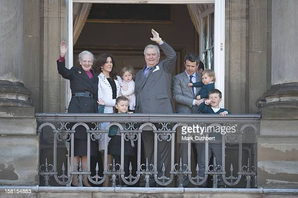 Queen Margrethe Ii Of Denmark And Prince Henrik Of Denmark With Princess Mary Of Denmark And Prince Frederik Of Denmark With Prince Vincent Of...