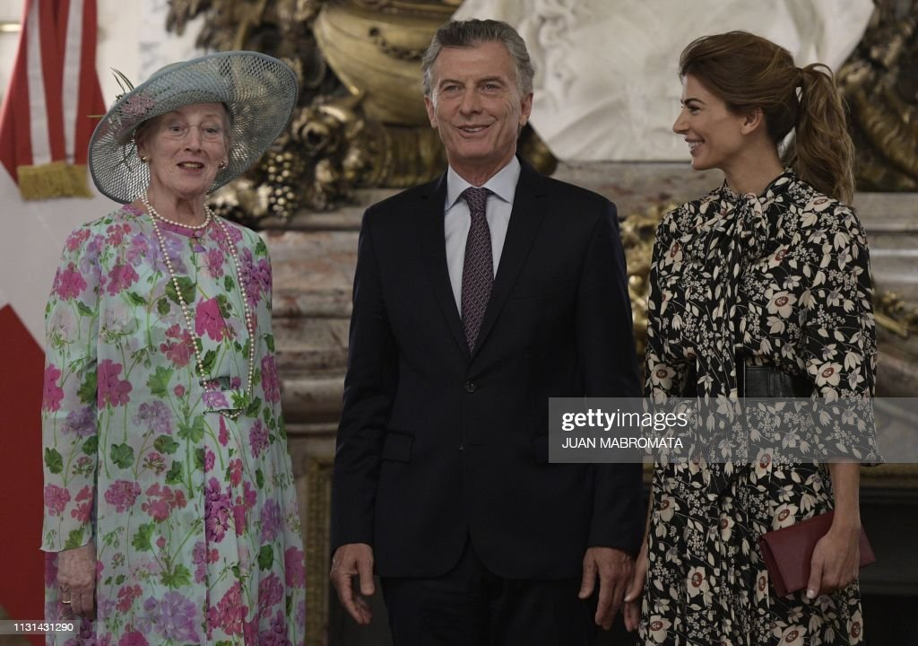 ARGENTINA-DENMARK-ROYALS-MACRI-QUEEN MARGRETHE : News Photo