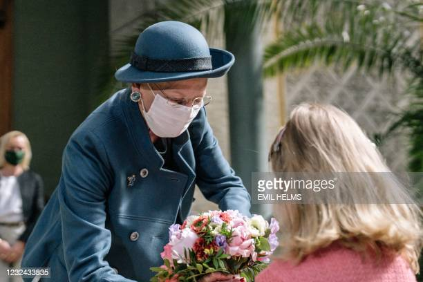 Queen Margrethe II of Denmark arrives at Glyptoteket museum in Copenhagen to open an exhibition featuring the works of Auguste Rodin as museums,...