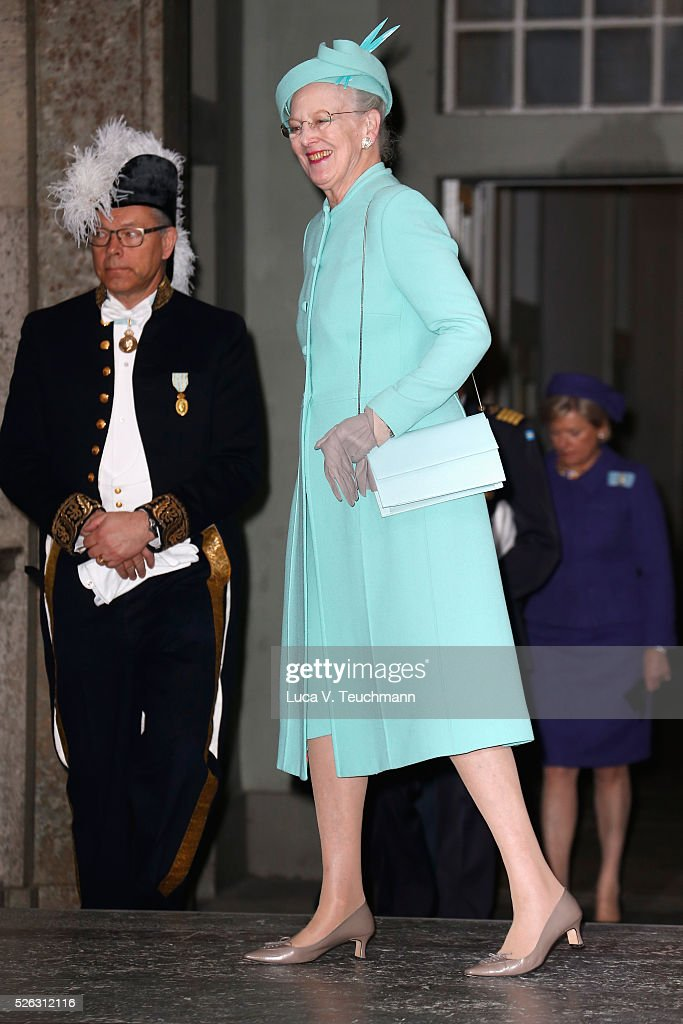 Te Deum Thanksgiving Service Arrivals - King Carl Gustaf of Sweden Celebrates His 70th Birthday : News Photo