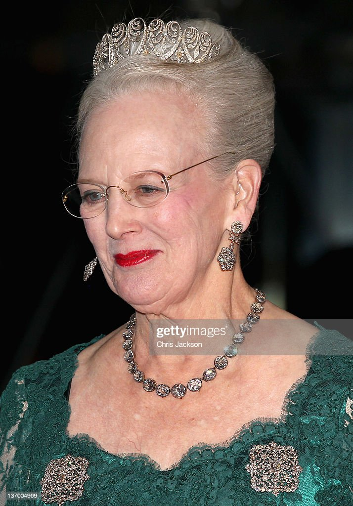 Queen Margrethe II of Denmark arrives for a Gala Performance at the DR Concert Hall to celebrate 40 years on the throne at City Hall on January 14, 2012 in Copenhagen, Denmark.