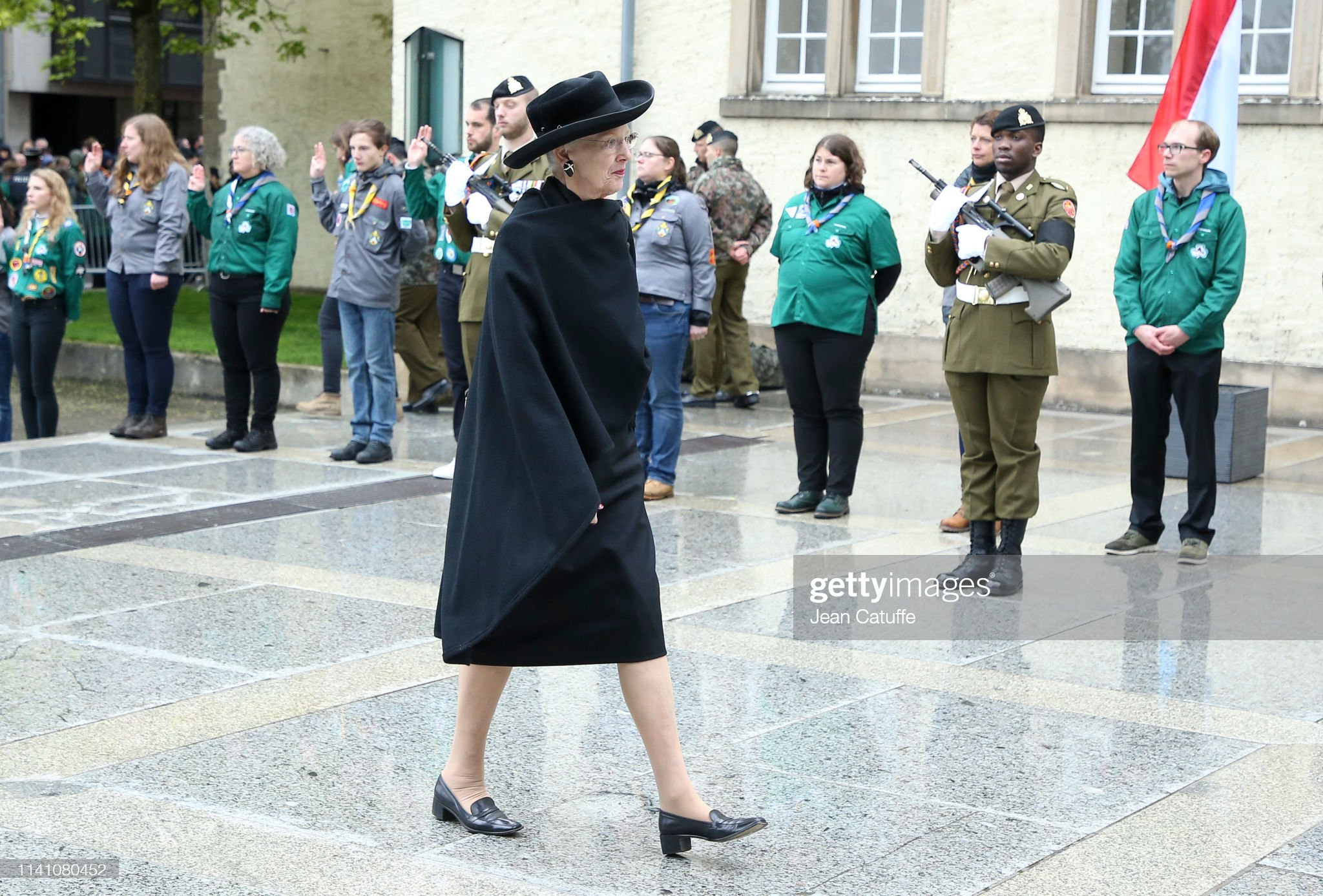 Похороны Великого Герцога Жана https://media.gettyimages.com/photos/queen-margrethe-ii-of-denmark-arrives-for-the-funeral-of-grand-duke-picture-id1141080452?s=2048x2048