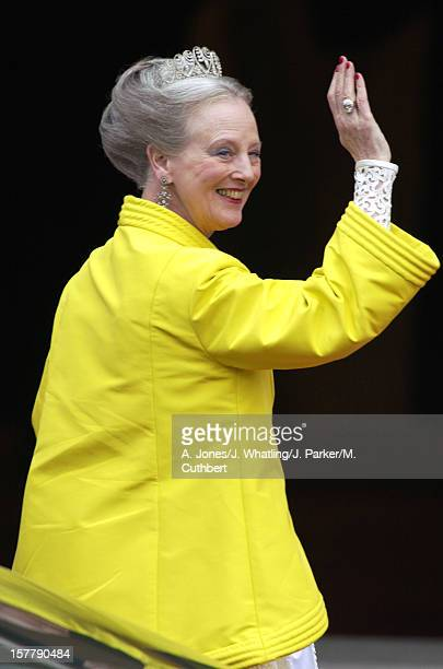 Queen Margrethe Ii Of Denmark At The Wedding Of Princess Martha Louise Of Norway And Ari Behn In Trondheim