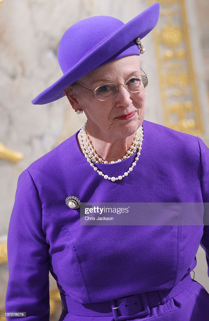 Queen Margrethe II of Denmark Celebrates 40 Years on The Throne - Celebratory Service : News Photo