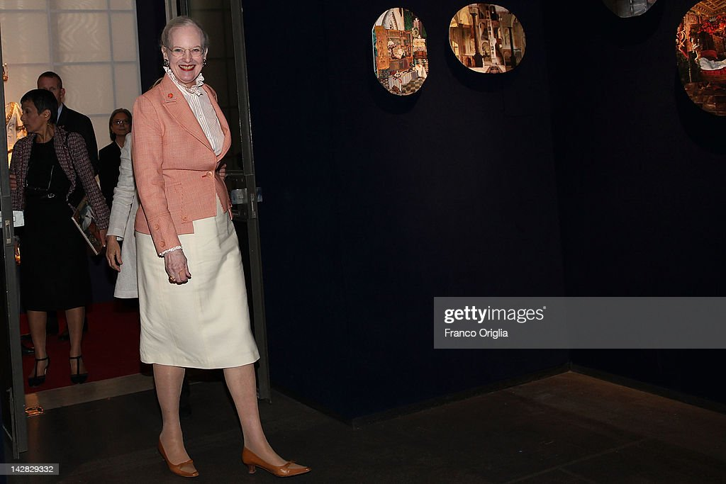"""H.M. Queen Margrethe II of Denmark Attends The """"Wild Swans"""" Exhibition : News Photo"""