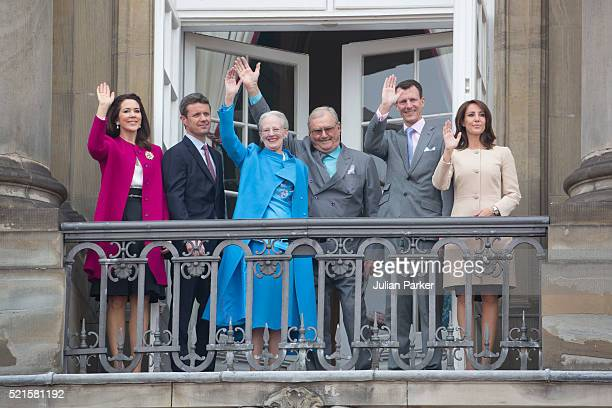 Queen Margrethe II of Denmark celebrates her 76th Birthday with Crown Princess Mary of Denmark and Crown Prince Frederik of Denmark Queen Margrethe...