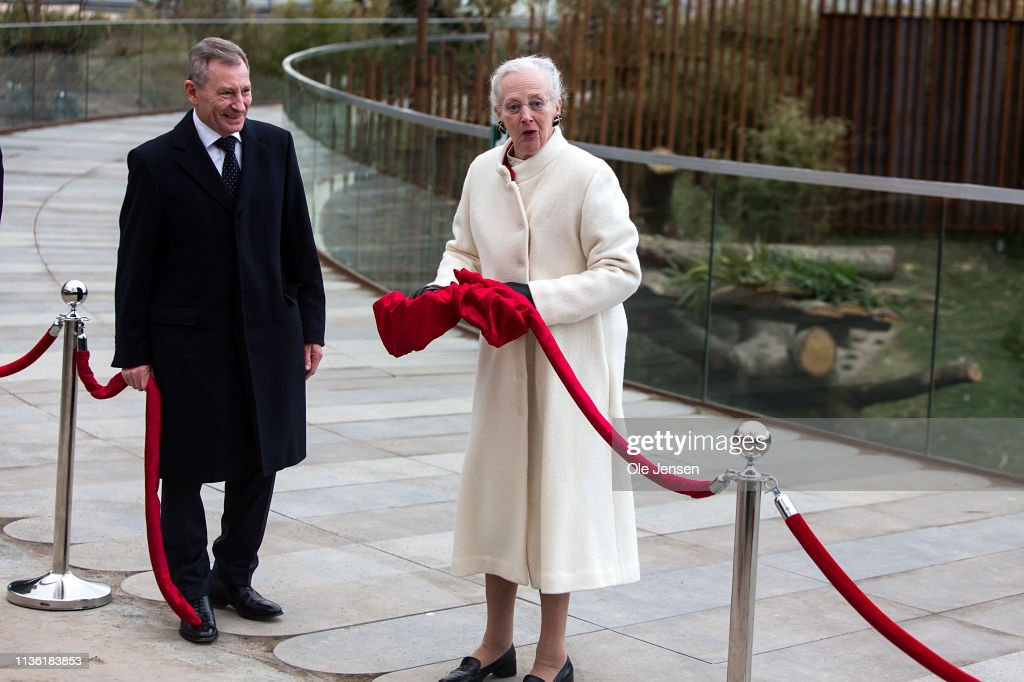 Queen Margrethe And Crown Princess Mary of Denmark Of Denmark Inaugurate The New Panda Facility At Copenhagen Zoo : News Photo