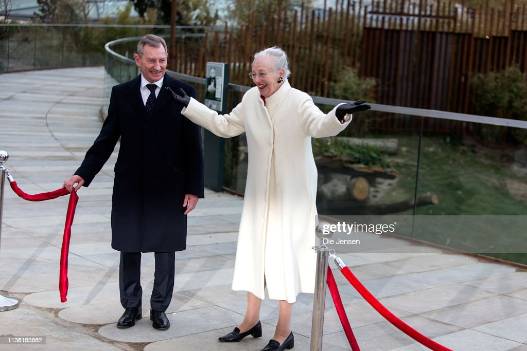 DNK: Queen Margrethe And Crown Princess Mary Of Denmark Visit The New Panda Facility At Copenhagen Zoo