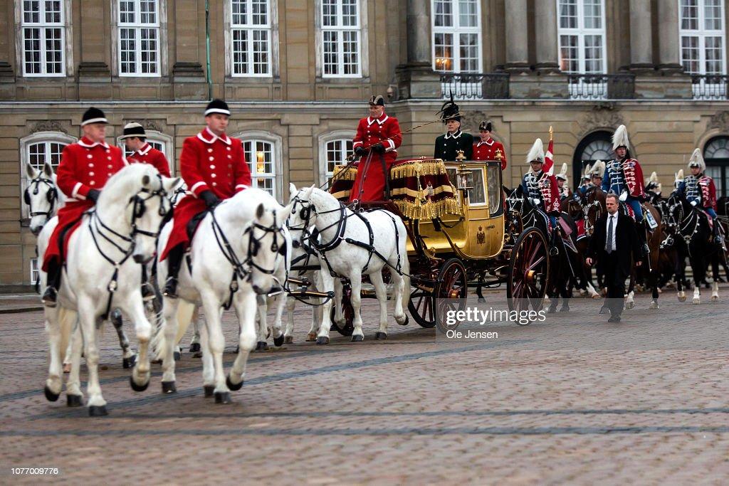 Danish Queen Margrethe Attends New Year's Levee In Copenhagen : Nachrichtenfoto