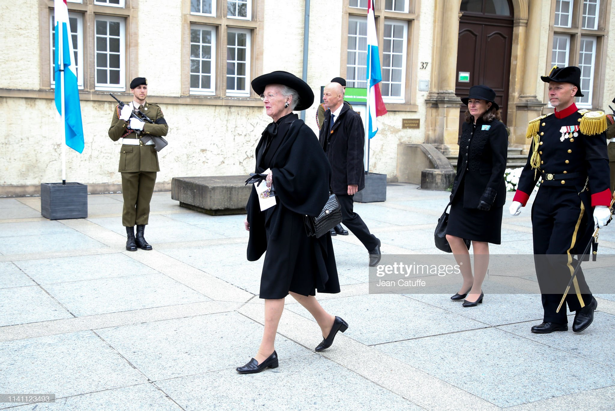 https://media.gettyimages.com/photos/queen-margrethe-ii-of-denmark-leaves-the-funerals-of-grand-duke-jean-picture-id1141123493?s=2048x2048