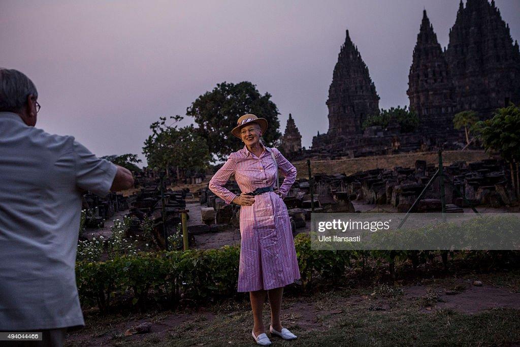 Danish Queen Margrethe II Visits Yogyakarta : News Photo