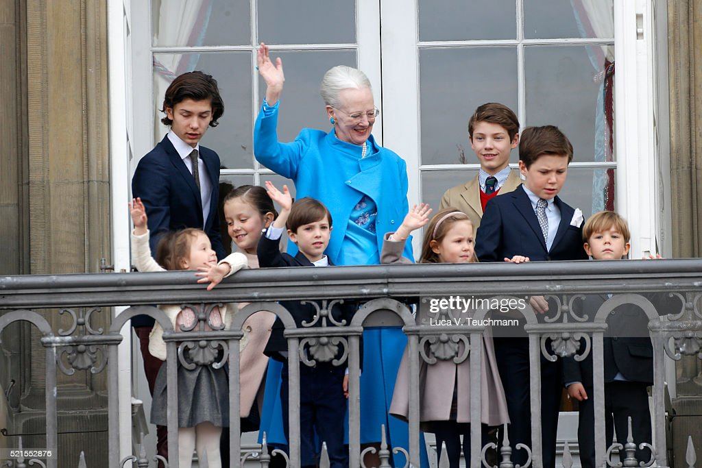 Queen Margrethe II Of Denmark And Family Celebrate Her Majesty's 76th Birthday : News Photo