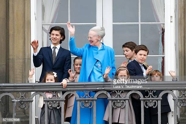 Queen Margrethe II of Denmark, Princess Josephine of Denmark, Princess Isabella of Denmark, Prince Vincent of Denmark, Prince Christian of Denmark,...