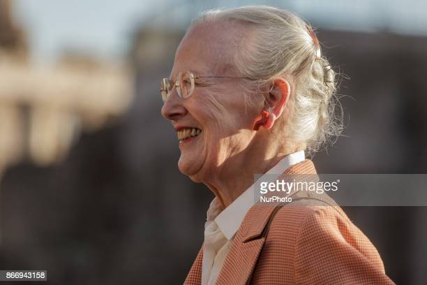 Queen Margrethe II of Denmark visits the archaeological site of the Roman Forum during her three-day trip to Italy in Rome, Italy on October 26, 2017.