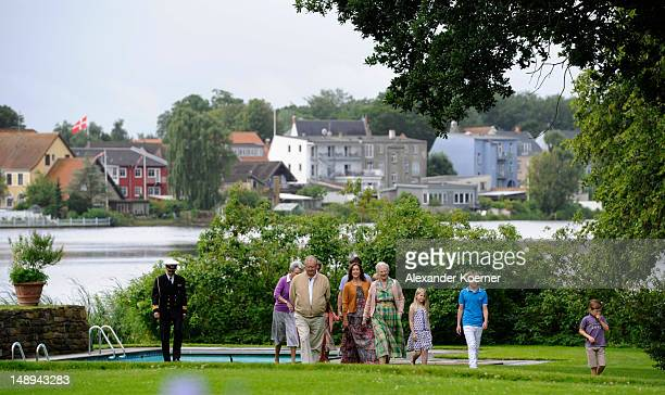 Queen Margrethe II Prince Consort Henrik of Denmark Crown Prince Frederik and Crown Princess Mary Prince Christian Princess Isabella Prince Vincent...