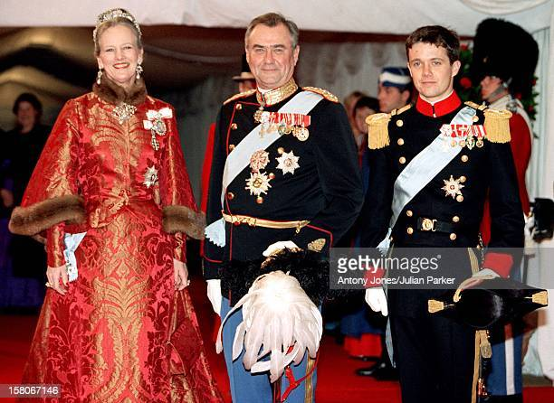 Queen Margrethe Ii Prince Henrik Crown Prince Frederik Attend The Wedding Of Prince Joachim Princess Alexandra Of Denmark At Frederiksborg Castle