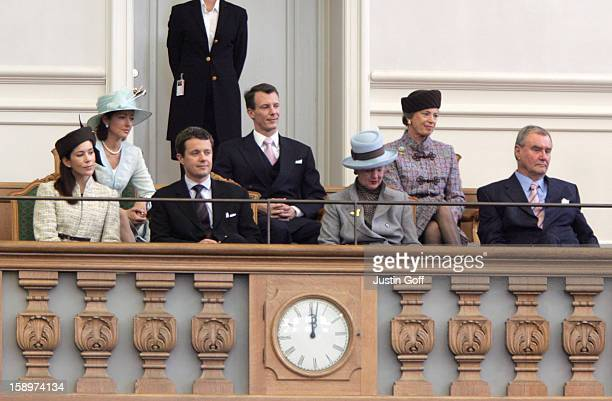 Queen Margrethe Ii Prince Henrik Crown Prince Frederik Crown Princess Mary Prince Joachim Princess Alexandra Princess Benedikte Of Denmark Attend The...