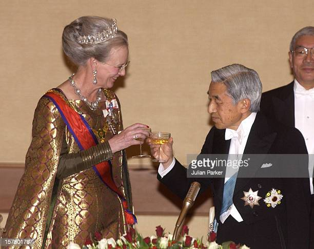 Queen Margrethe Ii Prince Henrik Of Denmark'S State Visit To JapanState Dinner With Their Majesties Emperor Akihito Empress Michiko Of Japan At The...