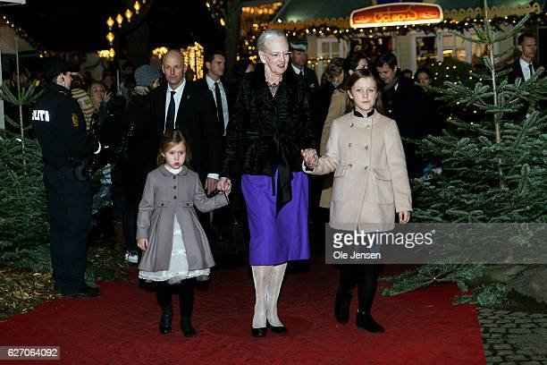 Queen Margrethe of Debmark with grandchildren Princess Isabella and Princess Josephine to the premiere of the Tarkovsky 'The Nutcracker' ballet in...