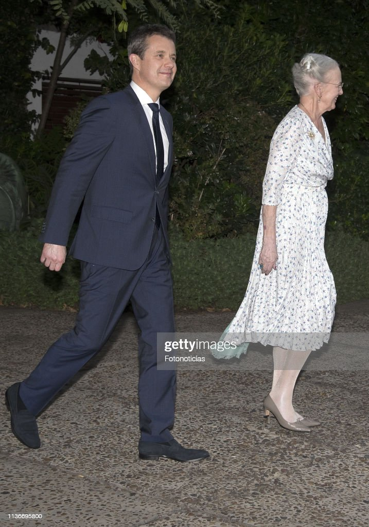 Queen Margrethe of Denmark and Crown Prince Frederik visit Argentina - Day 1 : News Photo