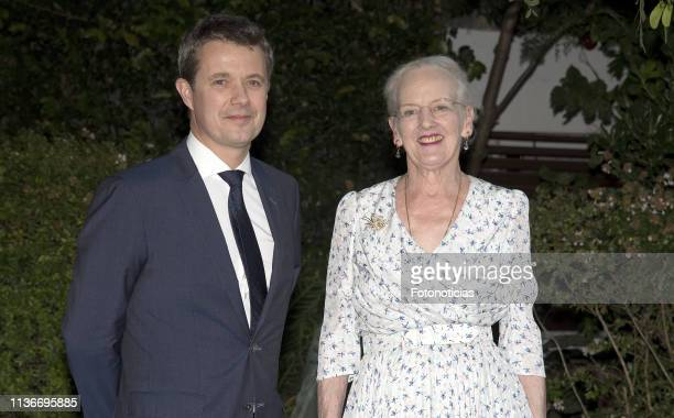 Queen Margrethe of Denmark and Crown Prince Frederik of Denmark attend a reception at the Yacht Club on March 18 2019 in Buenos Aires Argentina