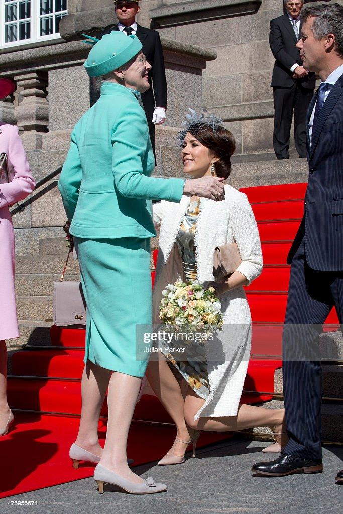 The Danish Royal Family Attend Christiansborg Palace On Occasion Of The 100th Anniversary Of The 1915 Constitution : News Photo