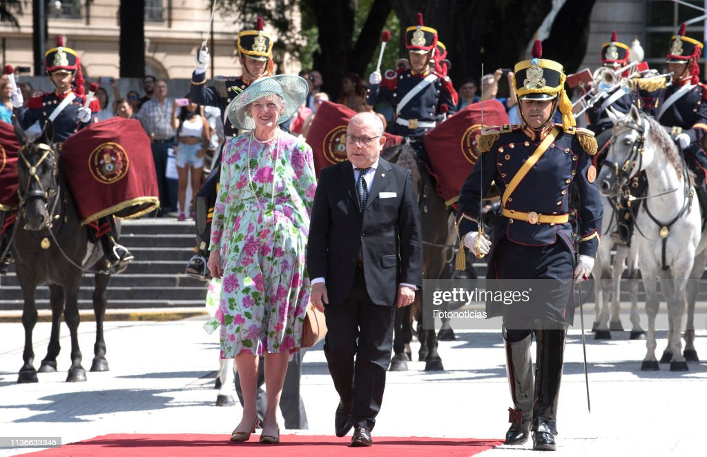ARG: Queen Margrethe of Denmark and Crown Prince Frederik visit Argentina - Day 1