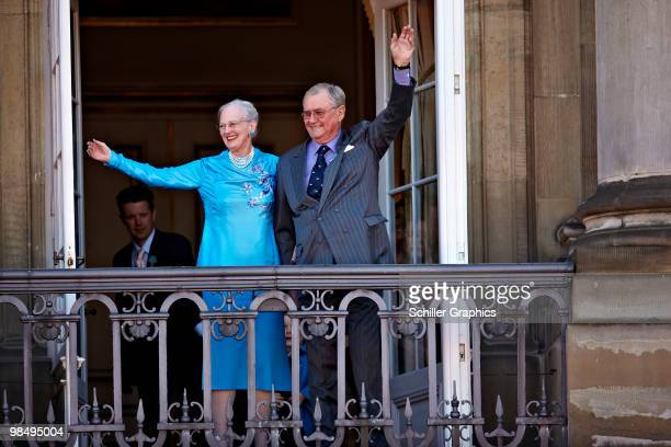 Queen Margrethe of Denmark and Henrik The Prince Consort of Denmark attend Queen Margrethe 70th Birthday Celebrations at Amaienborg Castle on April...