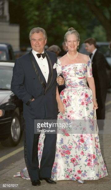 Queen Margrethe Of Denmark And Her Husband Prince Henrik At Bridgewater House For A Party