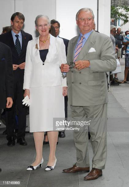 Queen Margrethe of Denmark and Prince Consort Henrik of Denmark attend the Reinventing Danish Classics grand prize ceremony at The Museum of Modern...