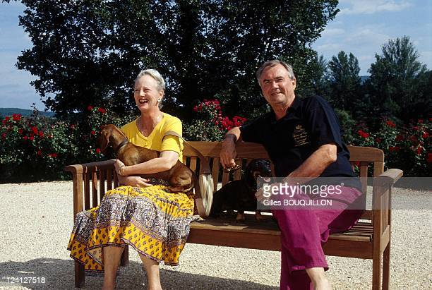 Queen Margrethe of Denmark and Prince Henri at Chateau de Caix In Luzech France In September1997