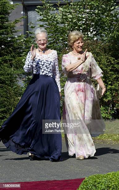 Queen Margrethe Of Denmark, And Queen Anne Marie Of Greece Attend The Wedding Of Princess Nathalie Of Sayn-Wittgenstein -Berleburg, To Alexander...