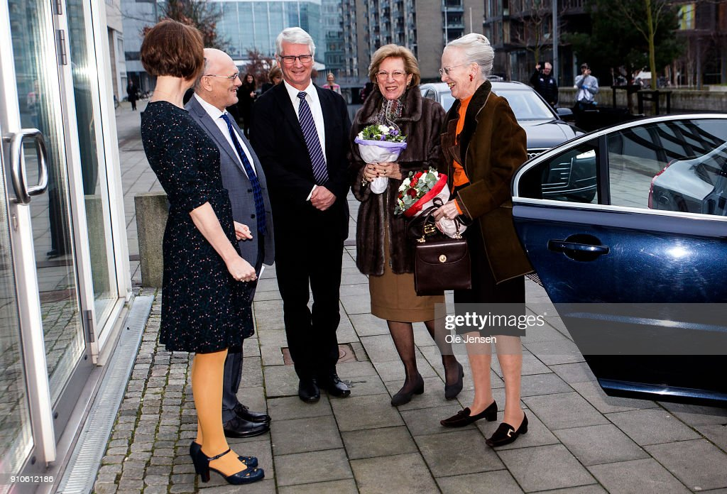 Queen Margrethe Of Denmark And Queen Anne - Marie Of Greece Attend Patric Leigh Fermor Symposium