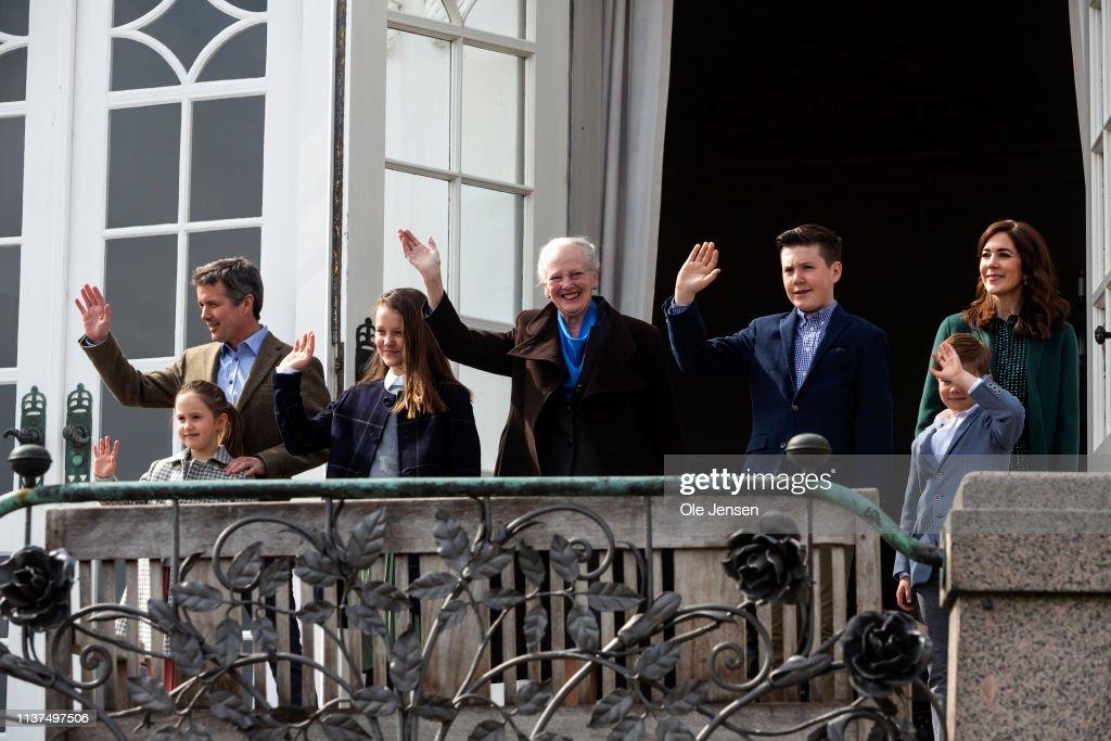 Queen Margrethe Of Denmark Celebrates Her 79th Birthday At Marselisborg Castle : News Photo
