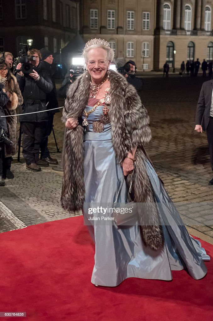 Danish Queen Margrethe Holds New Year's Reception For Parliament Member's : News Photo