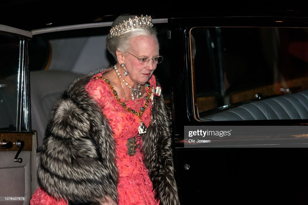 Danish Queen Margrethe Holds New Year's Banquet At Christian VII's Palace : News Photo