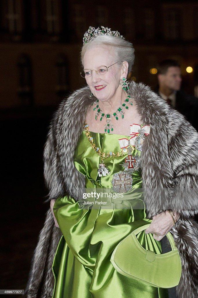 Traditional New Year's Banquet hosted by Queen Margrethe of Denmark : Nachrichtenfoto