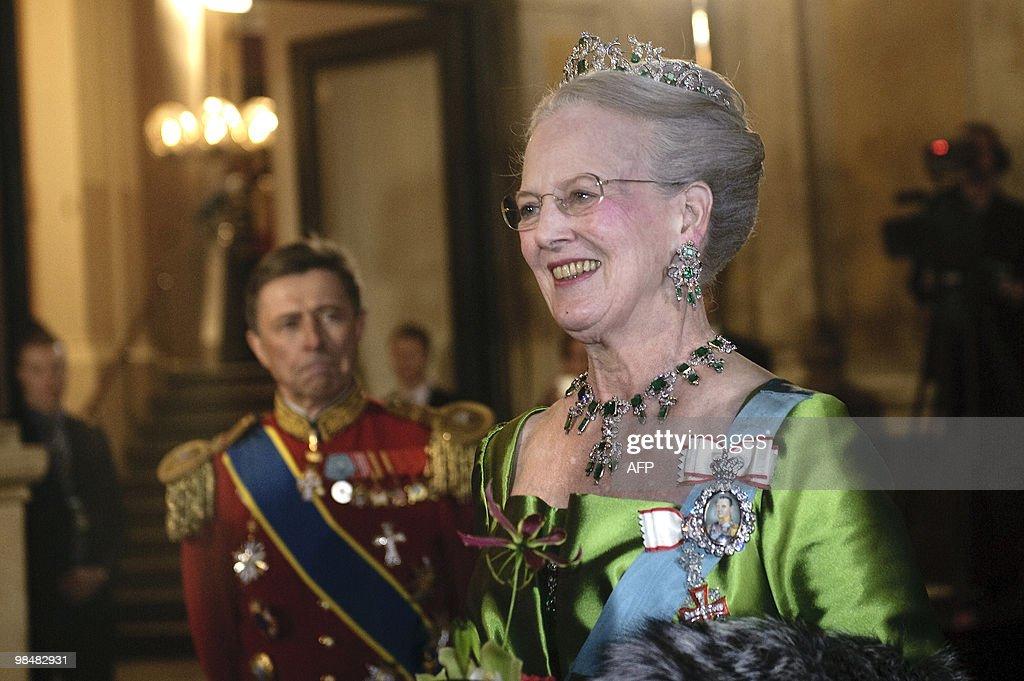 Queen Margrethe of Denmark arrives on Ap : News Photo