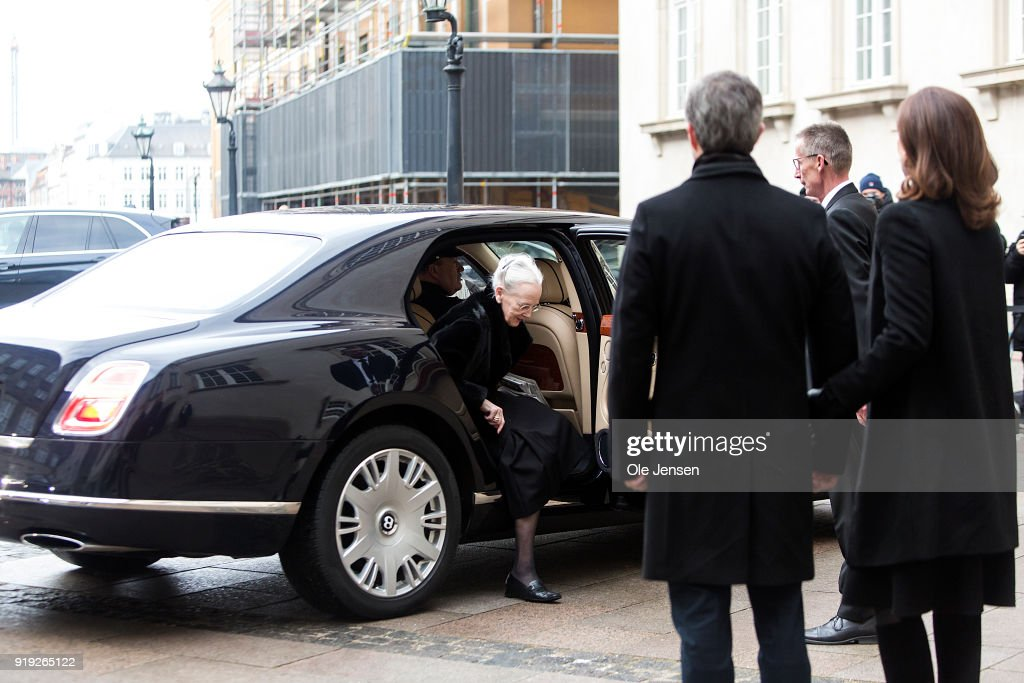 The Royal Danish Family Visit Prince Henrik's Coffin At Christainsborg Palace Church