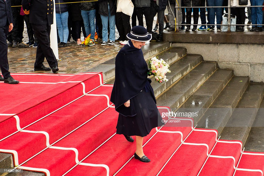 Queen Margrethe Of Denmark Opens Sailing Season With The Royal Ship Dannebrog : News Photo