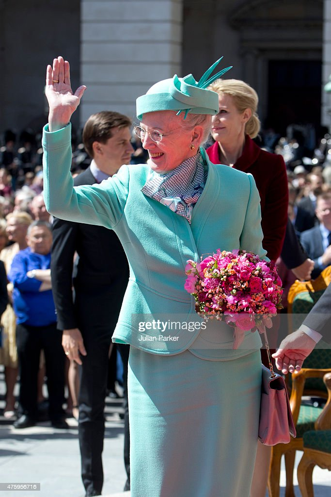 Queen Margrethe of Denmark at Christiansborg Palace on the occasion of The 100th Anniversary Of The 1915 Constitution on June 5th, 2015 in Copenhagen, Denmark